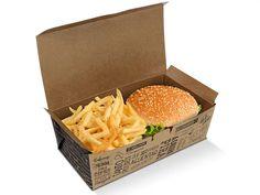 Burger Packaging, Bake Sale Packaging, Food Box Packaging, Food Packaging Design, Coffee Packaging, Bottle Packaging, Packaging Ideas, Burger Bar, Burger Restaurant