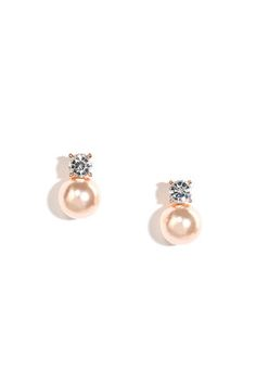Simplicity Girl Rose Gold and Pearl Earrings