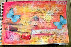 Art journal vive les couleurs !    pretty colours