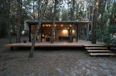 BAK arquitectos builds the casa mar azul in a dense forest - architecture house Cabins In The Woods, House In The Woods, Backyard Renovations, Casas Containers, Forest House, Glass House, Modern Architecture, House Plans, House Styles