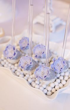 Project Nursery - Lavender and White Cake Pops