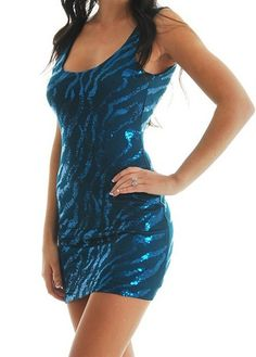 Katy Sequin Fitted Dress from Ava Adorn
