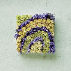 Love these pictures made of flowers