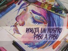 【DIBUJA un Rostro con Acuarela】  ✽PASO A PASO✽ - Isabelle Art - - YouTube
