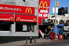 Back in the day, there were only 2 McDonalds in all of Harlem/Washington Heights, one of which was (and still is) on 145th and Broadway    In that bygone era, all the hustlers would meet up in there (before going across the street to Brands — the cheapest/best liquor store in the Tri-state you heard me)