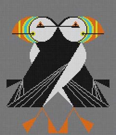 Puffins Passing by Harper / lots of needlepoint/tapestry and x-stitch designs