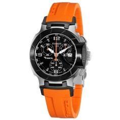 Tissot Womens T0482172705700 T-Race Black Chronograph Dial Orange Strap Watch: Watches: Amazon.com
