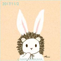 1320 私、はりこ。 I'm a hedgehog.