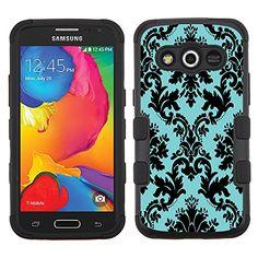 One Tough Shield Hybrid Phone Case (Black/Black) for Samsung Galaxy Avant - (Victorian Blue/Black) Cute Cases, Cool Phone Cases, Phone Covers, Samsung Vr, Samsung Galaxy, My Favorite Color, My Favorite Things, Cool Art, Awesome Art