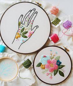 @cinderandhoney imagine floral embroidery as tattoos that sprawl across skin. #art #tattooedillustrations #tattoos @alinecerisier
