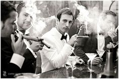 cool photo of the guys at the wedding with cigars from photographer ZARA ZOO Pinned by MikeB Wedding DJMC #stogies #wedding #weddingdj #cigarman #mbeventdjs