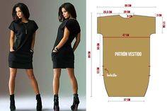 Vestido casual mangas enterizas con bolsillos ¡Patrones sencillos de fácil confección!   Costuras Diy