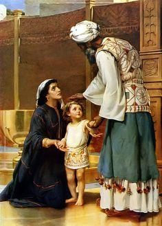 1 Samuel 1:26-28 Y ella dijo: !!Oh, señor mío! Vive tu alma, señor mío, yo soy aquella mujer que estuvo aquí junto a ti orando a Jehová.  Por este niño oraba, y Jehová me dio lo que le pedí. Yo, pues, lo dedico también a Jehová; todos los días que viva, será de Jehová. Y adoró allí a Jehová.