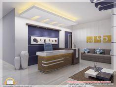 The modern office interior design 3d render Office Pinterest