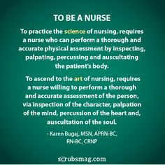 to be a nurse