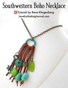 Southwestern Boho Necklace Tutorial by Rena Klingenberg
