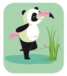 Alice De Page - illustrations vectorielles pour le WWF