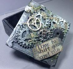 Isle of Crafty Creations: Mixed Media Monday: Box of Gears!