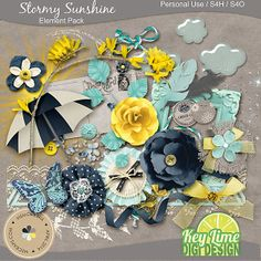 Stormy Sunshine Element Pack :: Elements :: Memory Scraps