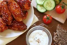 Kuřecí křídla v medové marinádě Ciabatta, Chicken Wings, Menu, Red Peppers, Menu Board Design, Buffalo Wings
