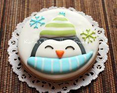 Penguin - Kids Party Favor -Penguin Cookies - Holiday Favor. $51.00, via Etsy.