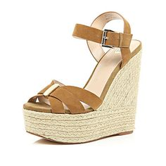 I'm shopping Brown suede high wedges in the River Island iPhone app. Spirit Of Summer, High Wedges, Shoe Boots, Shoes, Shoe Collection, Brown Suede, River Island, Espadrilles, Lady