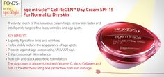 age miracle Cell ReGEN Day Cream SPF 15 - Normal to Dry Dry Skin, Spotlight, Cream, Day, Rain, Creme Caramel, Spot Lights