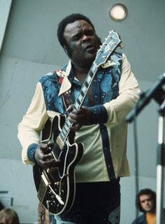 Texas bluesman extraordinaire Freddie King, the uncrowned monarch of the  Armadillo World Headquarters, Austin.