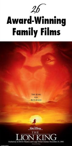 Can you feel the love tonight? 26 Award-Winning Family Films | Lion King