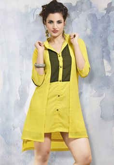 #Mask #Yellow #Polyester #Georgette #Kurti.  #Mask #Yellow #Polyester #Georgette #Printed #Kurti.  INR: 1,327.05  With Attractive Discounts  Grab: http://tinyurl.com/zwoqfoz