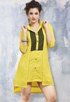 #Mask #Yellow #Polyester #Georgette #Kurti.  #Mask #Yellow #Polyester #Georgette #Printed #Kurti.  INR: 1,327.05  With Attractive Discounts  Grab: http://tinyurl.com/zwoqfoz