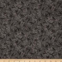 Black Cat Crossing Bird Silhouettes Black from @fabricdotcom  Designed by Maywood Studio, this cotton print fabric is perfect for quilting, apparel and home decor accents. Colors include shades of black, brown and grey.