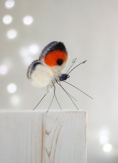 Nadel Gefilzte Butterfly  Nadel Filz Orange Schmetterling