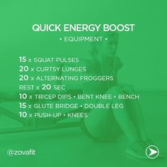 Quick Energy Boost.