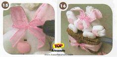 Como fazer uma coelha na cesta - Páscoa - Passo 3