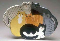 Solveig's Ceramics, cat platters