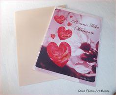 """Carte double """"Coeurs de rose"""" Bonne fête Maman : Cartes par celinephotosartnature"""