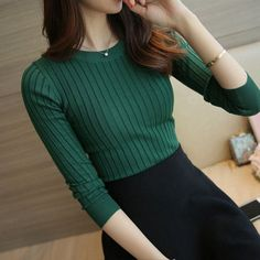 ONLYWONG High Elasticity Knitted Women Sweater Fashion Long Sleeve Spring Autumn Sweater women Slim Sexy female Jumper