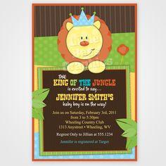 King of the Jungle Printable Birthday Invitation. $12.99, via Etsy.