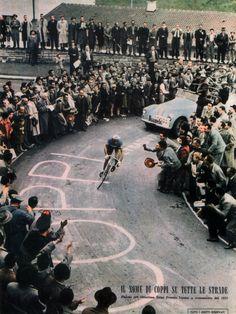 Great blast from the past photo    pedalfar:  La Gazzetta Della Bici: IL NOME DI COPPI SU TUTTE LE STRADE Beautiful!    Probably my favorite cycling...