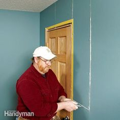 The only way to fix a recurring drywall crack around a door or window is to bridge the crack with a fresh sheet of drywall. The fix takes a few days, but it