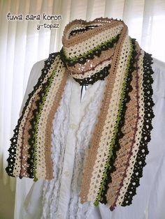 crochet scarf http://fuwasarakoron.blog55.fc2.com/
