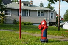 Spider-Man  Fire hydrant art painted