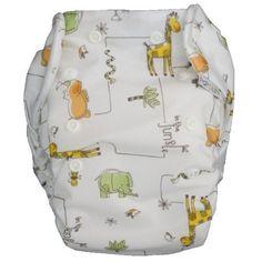 Diewald Popolini – Cubrepañales (válido para todo tipo de pañales de tela, talla L: 9 a 15 kg), diseño de animales de la jungla