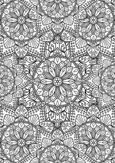 We really like this collection of flower mandalas! Hope you do too!