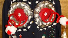 """<a href=""""http://www.myuglychristmassweater.com/collections/naughty-christmas-sweaters/products/naughty-boobs-funny-3d-ugly-xmas-sweater-with-snowmen-z162"""" target=""""_blank"""">My Ugly Christmas Sweater</a>, $125.00"""