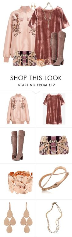 """""""Over The Knee Boots-Boho"""" by honkytonkdancer ❤ liked on Polyvore featuring STELLA McCARTNEY, Toast, Franco Sarto, Gucci, Aurélie Bidermann, Trina Turk, Irene Neuwirth, Lizzy James and Ruby Rd."""