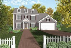 Formal and inviting 4 bedroom colonial style home.  Colonial House Plan # 101145.