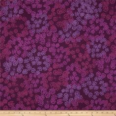 Valori Wells Quill Floral Burst Grappa Purple from @fabricdotcom  Designed by Valori Wells for Robert Kaufman, this cotton print is perfect for quilting, apparel and home decor accents.  Colors include shades of purple.