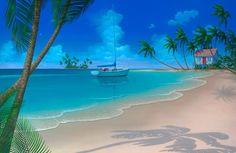 Seascape paintings and Beach Paintings by artist David Miller Beach Mural, Beach Art, Seascape Paintings, Landscape Paintings, Beach Paintings, Peintures Bob Ross, Art Plage, Painted Pavers, Bob Ross Paintings